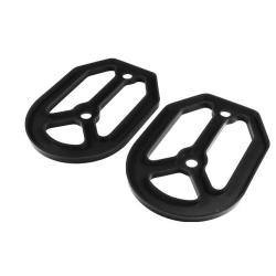 Base Silicona Estriberas Apico Pro-Bite Negro (2uds.)
