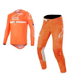 Set Alpinestars Supertech 2020 Naranja Flúor/Blanco/Azul