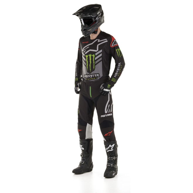 Set Alpinestars Racer Tech Monster Ammo 2020 Negro/Gris/Verde