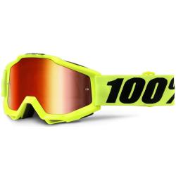 Gafas 100% Accuri Amarillo Flúor Mirror